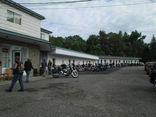 Motorcyclycist coming to the Biker's Reunion in New Liskeard