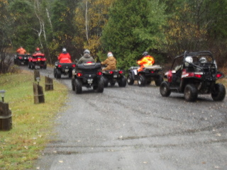 ATV rallye in Northern Ontario