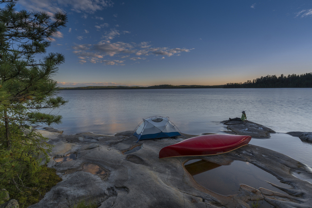 Canoeing on Lake Temagami