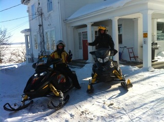 Snowmobiling on Lake Temiskaming