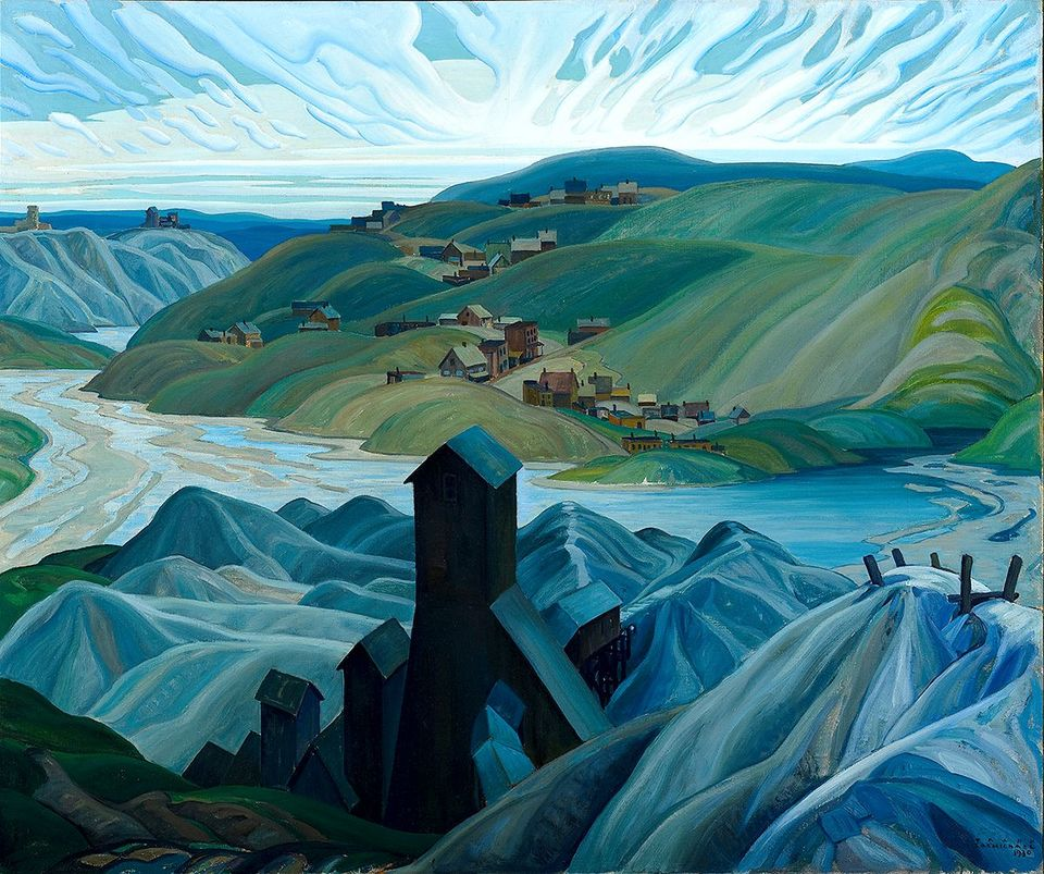A Northern Silver Mine, Franklin Carmichael, 1930. Oil on canvas