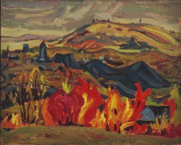 Autumn Cobalt, A.Y. Jackson, 1935. Oil on Wood
